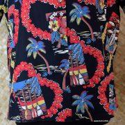 Ladies Vintage Style Hawaiian Shirt in Black 2