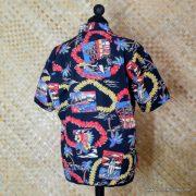 Ladies Vintage Style Hawaiian Shirt in Black 6