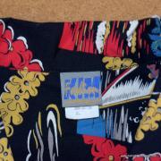 Ladies Vintage Style Hawaiian Shirt in Black 9