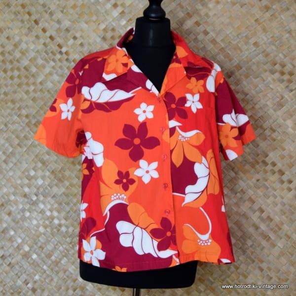 Ladies Vintage Style Hilo Hatties Hawaiian Shirt 1