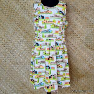 Ladies Vintage Style Retrolicious Mid Century Homes Dress 1