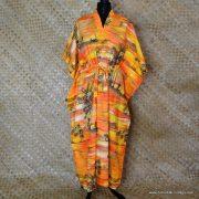 Vintage Ladies Hawaii Full Length Kaftan Dress 1