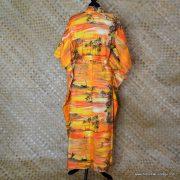 Vintage Ladies Hawaii Full Length Kaftan Dress 4