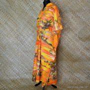 Vintage Ladies Hawaii Full Length Kaftan Dress 7