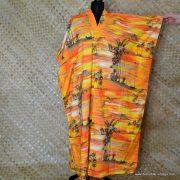 Vintage Ladies Hawaii Full Length Kaftan Dress 8