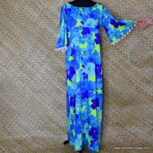 56fcb26706d39 1970's Ladies Hawaiian 'Pomare Hawaii' Blue MuMu Dress. £37.00 · 1960's  Ladies Vintage Hukilau Fashion ...
