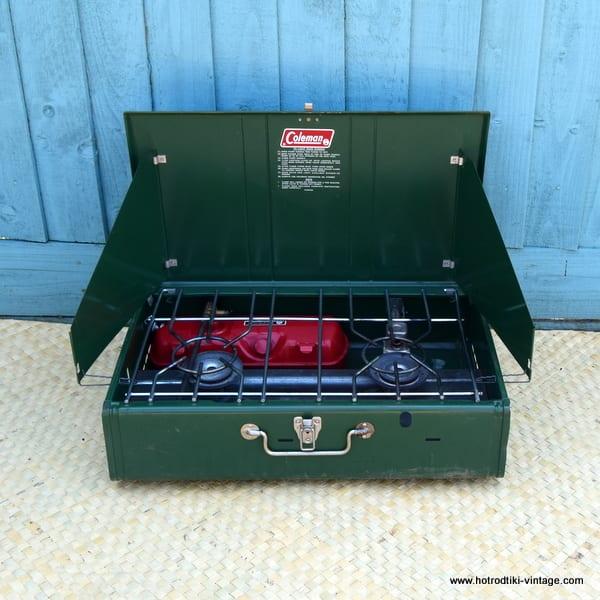 Vintage Coleman 413g Folding Dual Burner Gas Stove In