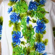 1960's Mens Vintage Cream Ui-Maikai Hawaiian Shirt 2