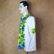 1960's Mens Vintage Cream Ui-Maikai Hawaiian Shirt 4