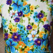 1960's Mens Vintage Kimos Cream Floral Hawaiian Shirt 6