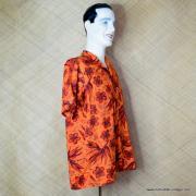 1960's Mens Waikiki Wear by Duke of Hollywood Red Hawaiian Shirt 4