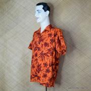 1960's Mens Waikiki Wear by Duke of Hollywood Red Hawaiian Shirt 5