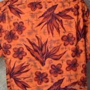 1960's Mens Waikiki Wear by Duke of Hollywood Red Hawaiian Shirt 7