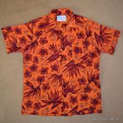 1960's Mens Waikiki Wear by Duke of Hollywood Red Hawaiian Shirt 9