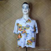 1960's Vintage Mens Broadway White Hawaiian Shirt 1