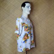 1960's Vintage Mens Broadway White Hawaiian Shirt 3