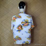 1960's Vintage Mens Broadway White Hawaiian Shirt 5