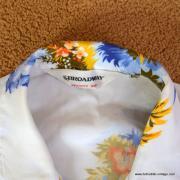 1960's Vintage Mens Broadway White Hawaiian Shirt 7