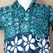 1960's Vintage Mens Paradise Green Hawaiian Shirt 2