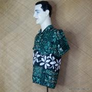 1960's Vintage Mens Paradise Green Hawaiian Shirt 4