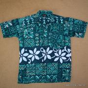 1960's Vintage Mens Paradise Green Hawaiian Shirt 8