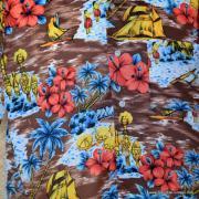 1970's Mens Kings oad by Sears Brown Hawaiian Shirt 2