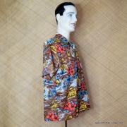 1970's Mens Kings oad by Sears Brown Hawaiian Shirt 3
