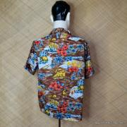 1970's Mens Kings oad by Sears Brown Hawaiian Shirt 5