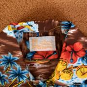 1970's Mens Kings oad by Sears Brown Hawaiian Shirt 7