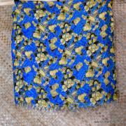 Vintage Blue Hawaiian Sarong 3