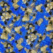 Vintage Blue Hawaiian Sarong 6