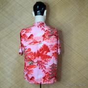Vintage Mens Broadway Red Oriental Shirt 5