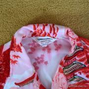 Vintage Mens Broadway Red Oriental Shirt 7