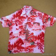 Vintage Mens Broadway Red Oriental Shirt 8