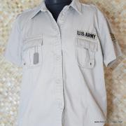 Vintage Style US Army Beige Short Sleeved Shirt 2