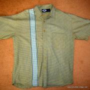 Vintage Style Vans Tan Checked Short Sleeved Shirt 9