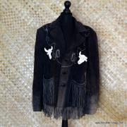 Vintage Suede Tassel Mexican Jacket 1