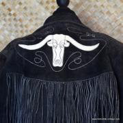 Vintage Suede Tassel Mexican Jacket 8