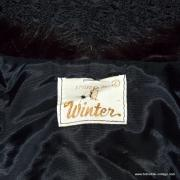 1950's Ladies Black Rabbit Fur Collared Styled by Winter Jacket 6