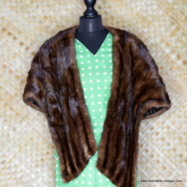 1950's Ladies Brown Mink 'J W Robinson of California' Vintage  Shrug/Cape/Shawl