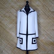 1960's Ladies Lilli Ann Black & White MOD Coat 1