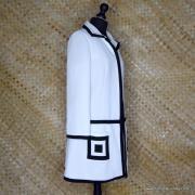 1960's Ladies Lilli Ann Black & White MOD Coat 4