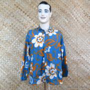 1960's Mens Blue Hawaiian Holiday Shower Proof Jacket 1