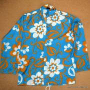 1960's Mens Blue Hawaiian Holiday Shower Proof Jacket 10