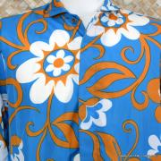 1960's Mens Blue Hawaiian Holiday Shower Proof Jacket 2