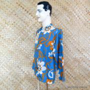 1960's Mens Blue Hawaiian Holiday Shower Proof Jacket 4