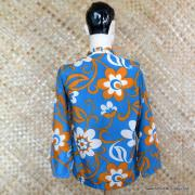 1960's Mens Blue Hawaiian Holiday Shower Proof Jacket 5