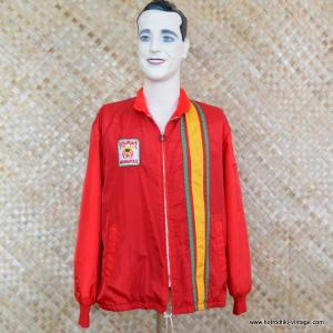 1960's Mens Red Shriners Race Style Jacket 1