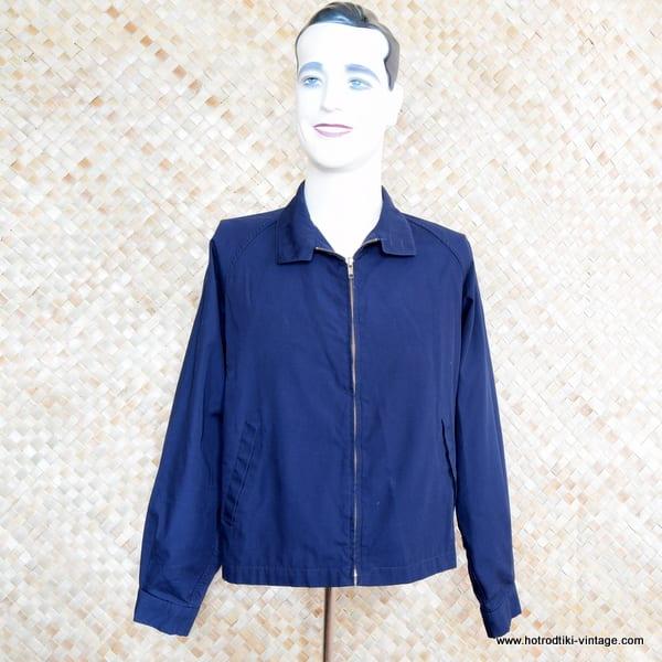 1960's Mens Vintage Dark Blue London Fog Jacket 1