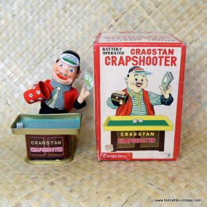 1960's Vintage Japan Crapshooter by Cragstan Tin Toy 1